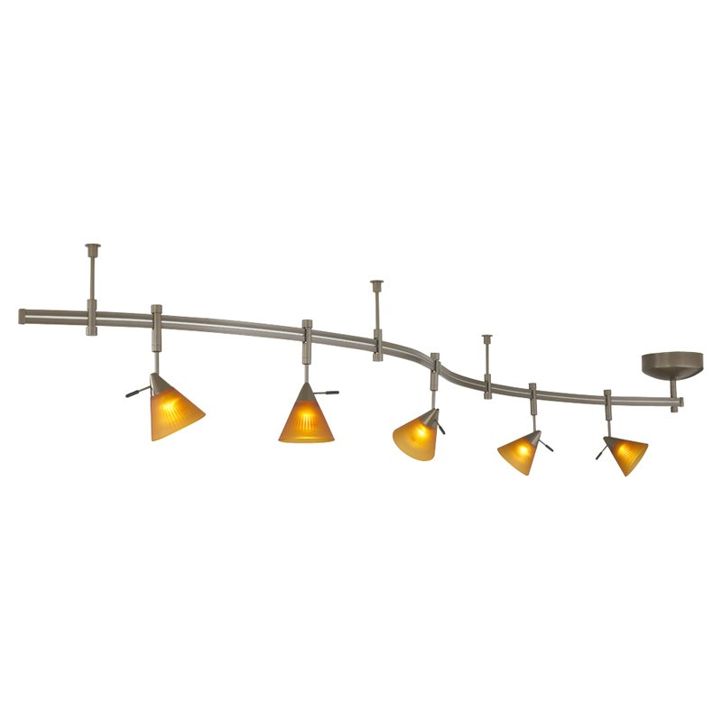 Juno Track Lighting Brushed Steel Track Lights Track Lighting Home Garden  sc 1 st  Lighting On WinLights.com : battery operated track lighting - azcodes.com